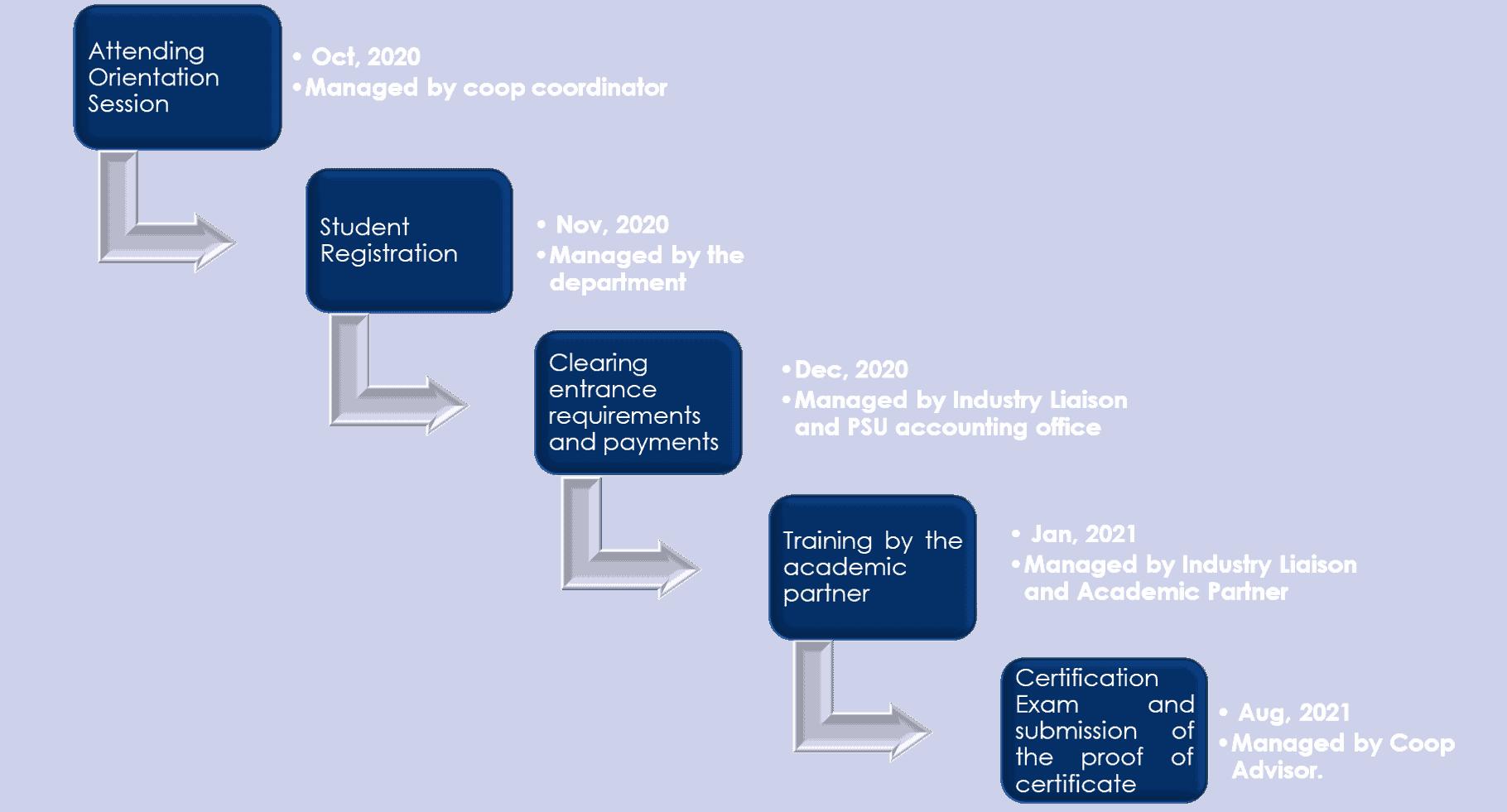 Timeline – Program Delivery  AY 2020 - 21