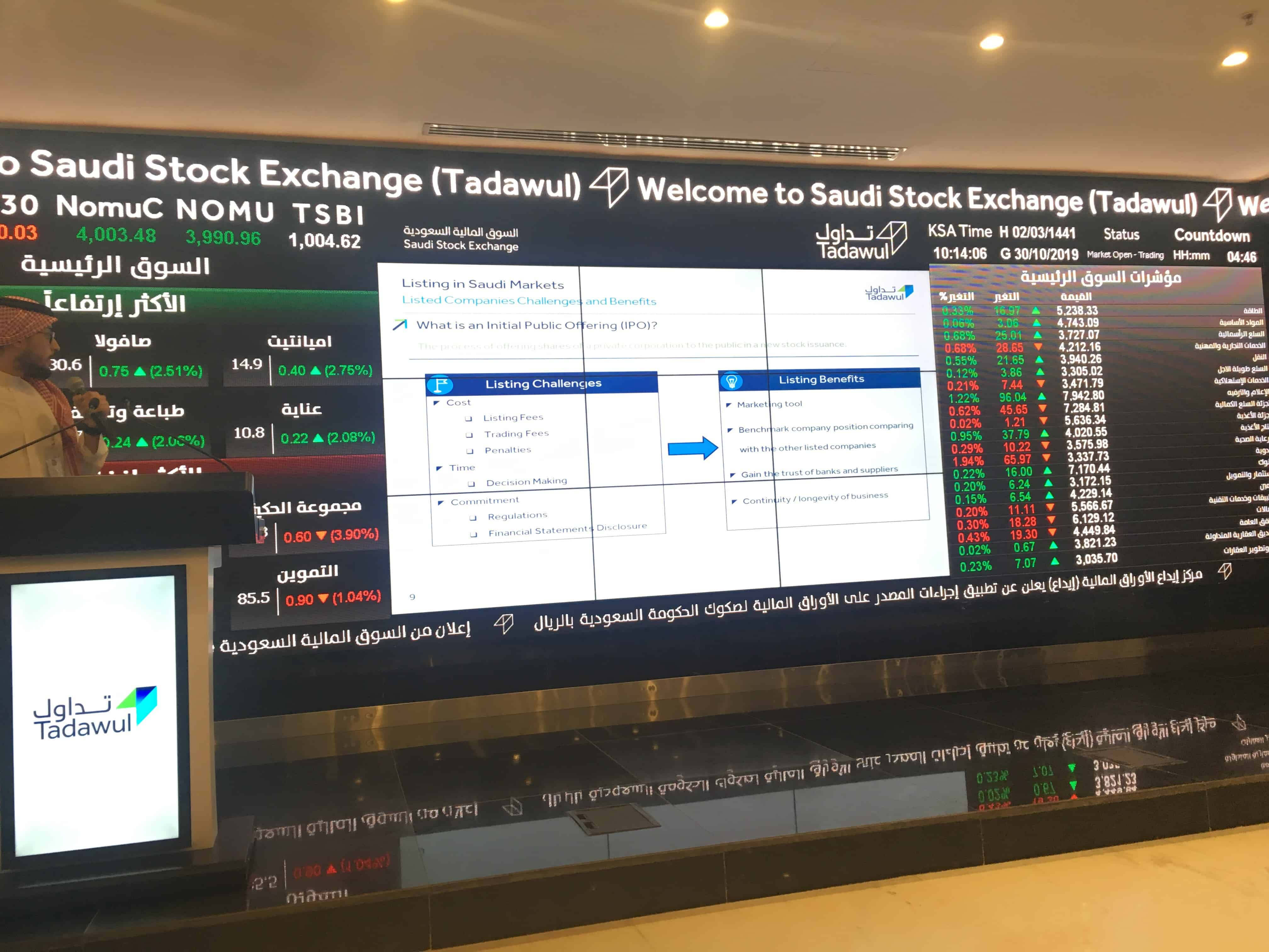 Field Visit to Saudi Stock Exchange Tadawul