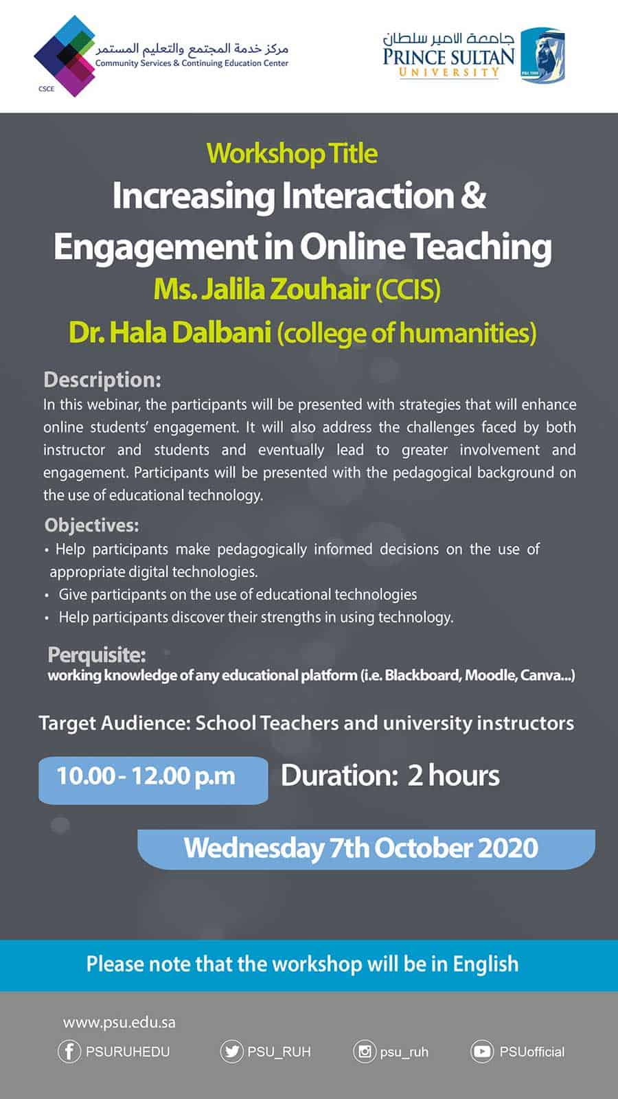 Increasing Interaction & Engagement in Online Teaching