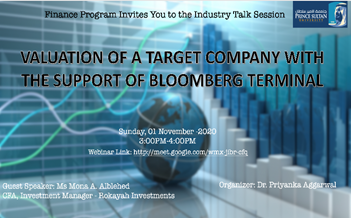 Webinar: Valuation of a Target Company with the support of Bloomberg Terminal