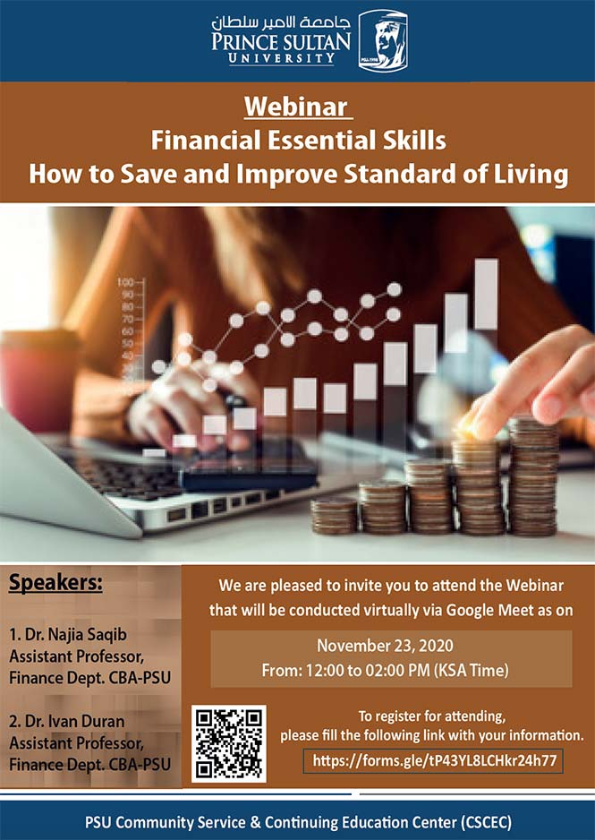 Webinar: Financial Essential Skills on How to Save and Improve Standard of Living