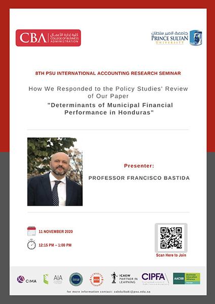 الندوة الدولية الثامنة لبحوث المحاسبة بجامعة الأمير سلطان