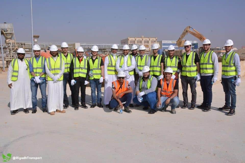 Engineering Management Students Visited Riyadh Metro Site in Riyadh