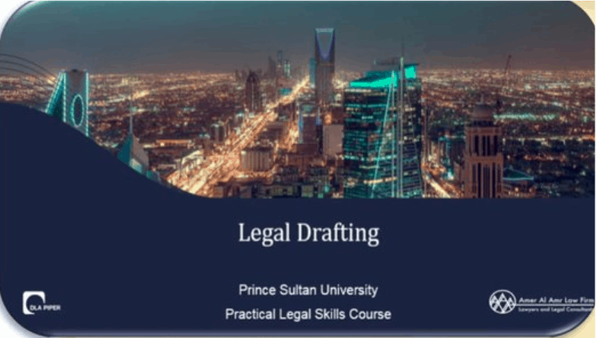 The College of Law in Collaboration with DLA Piper Organized a Workshop Entitled :(Legal Drafting)