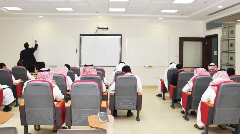 أسلوب التدريس في كلية إدارة الأعمال للفصل الدراسي الأول 201