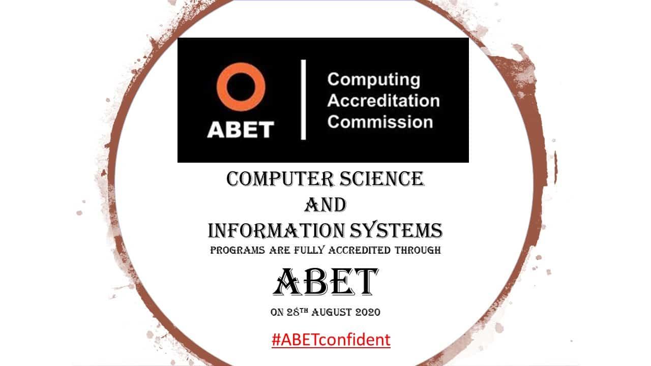 اعتماد ABET لبرنامجي علوم الحاسب ونظم المعلومات