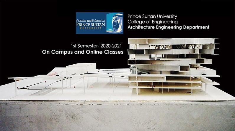 قسم الهندسة المعمارية الانتظام في الحرم الجامعي والتعليم عن بعد  الفصل الدراسي الأول للعام الأكاديمي ٢٠٢٠-٢٠٢١م