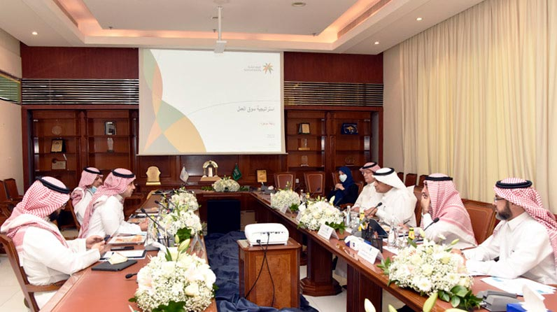 A delegation from the Ministry of Human Resources and Social Development visits the university to discuss means of cooperation between the two parties.
