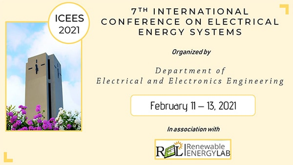 International Virtual Conference on Electrical Energy Systems (ICEES 2021)