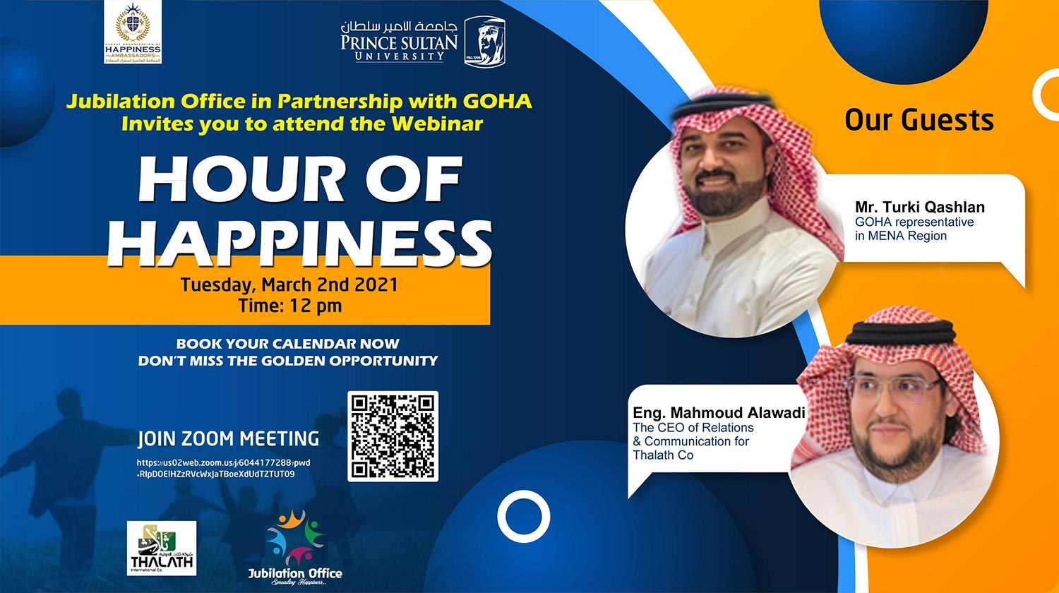 Event in Collaboration with GOHA (Global Organization of Happiness Ambassadors)