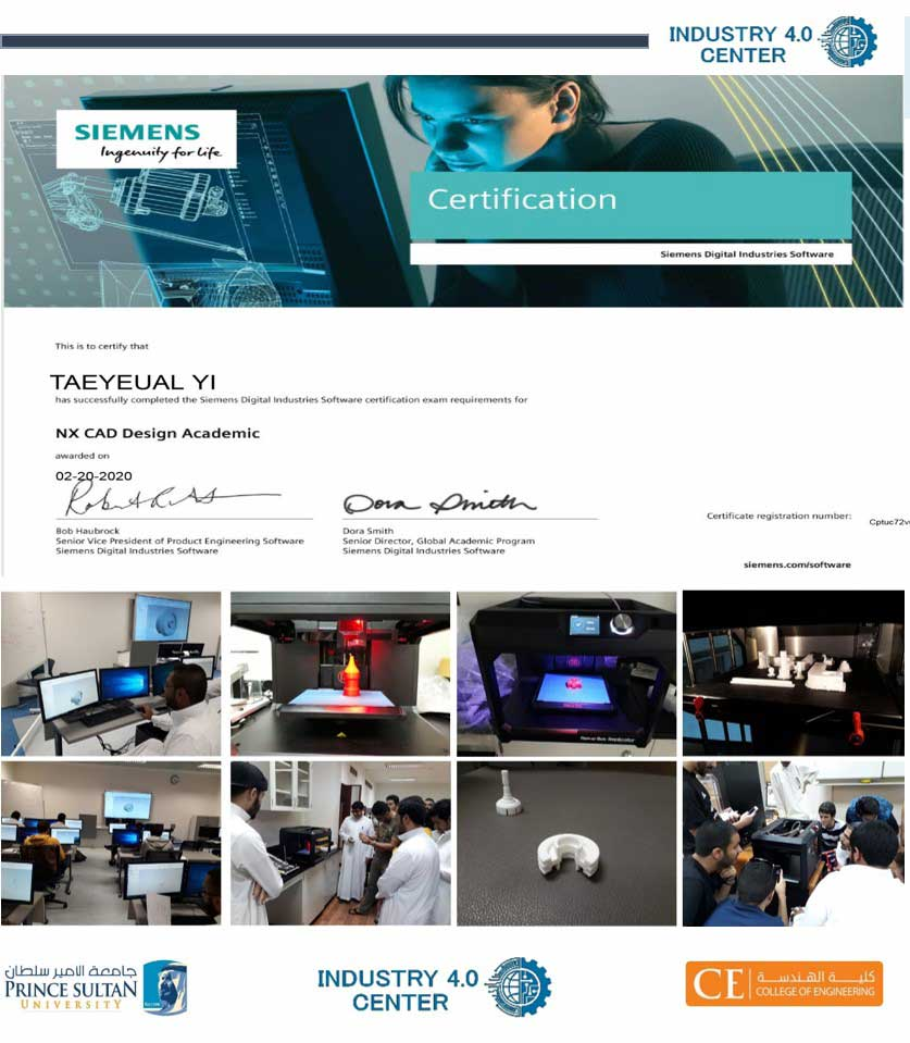 PSU Siemens NX CAD Certification Exam & 3D Printing Training Course