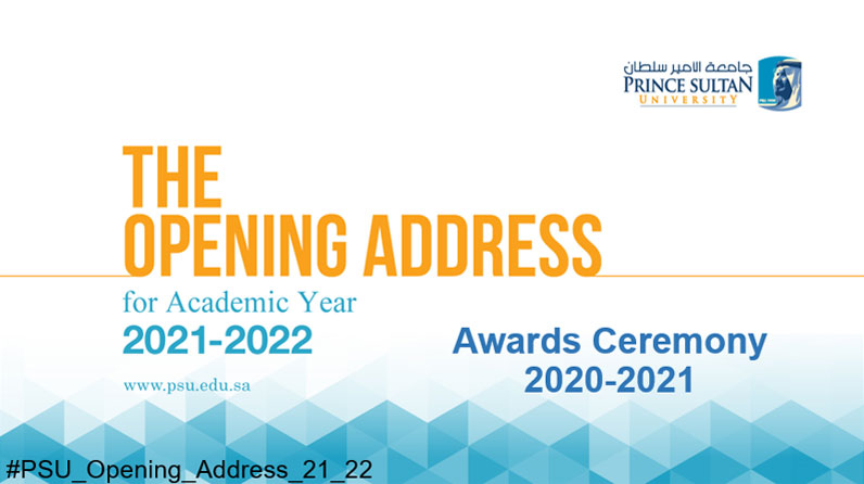 The Opening Address 2021 and Awards Ceremony for 2020-2021